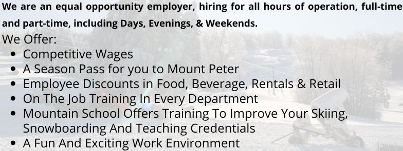 Jobs at Mount Peter