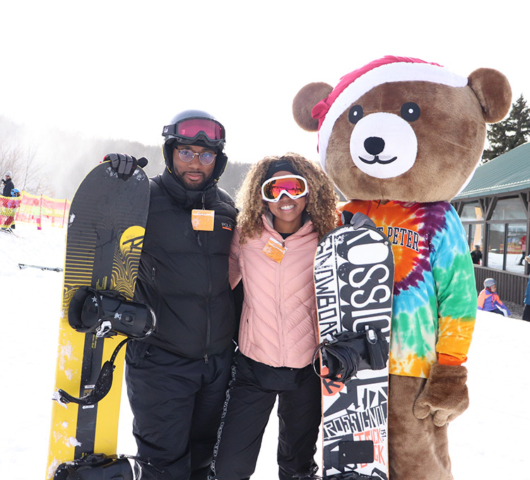 Snowboarding at Mount Peter