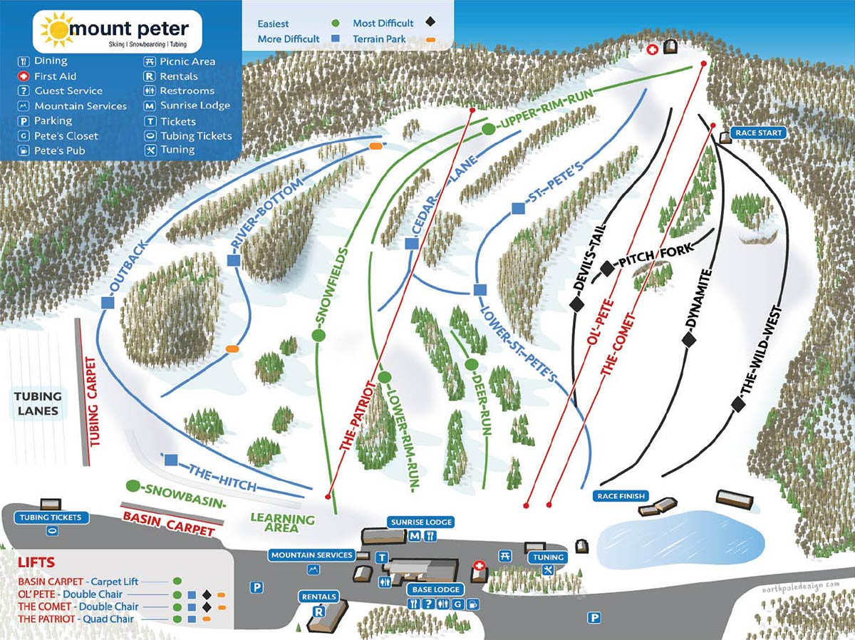 Mount Peter Trail Map